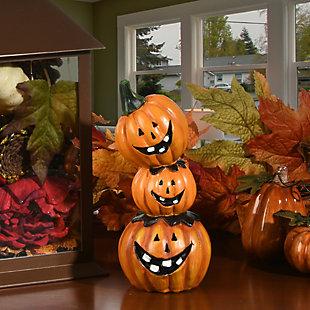 "7"" Stacked Pumpkins Decoration, , large"