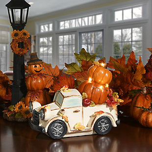 """7"""" Pumpkin Truck with Battery Operated LED Lights, , rollover"""