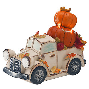 """7"""" Pumpkin Truck with Battery Operated LED Lights, , large"""