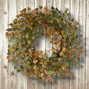 "24"" Green Ivy Harvest Wreath, , rollover"