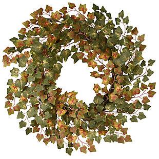 "24"" Green Ivy Harvest Wreath, , large"