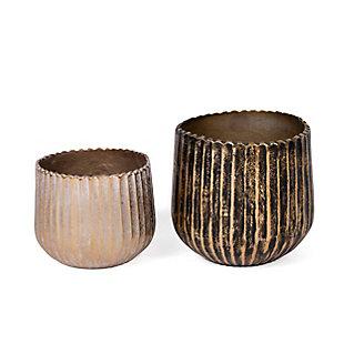 Gild Design House Metal Vases (Set of 2), , rollover