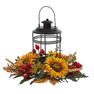 "18"" Sunflower Berry Artificial Arrangement Candelabrum, , large"