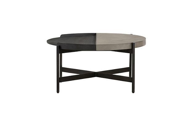 Armen Living Dua Round Coffee Table, , large