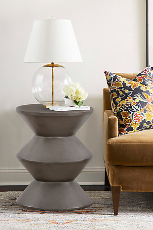 Armen Living Lizzie Accent Stool End Table, , rollover