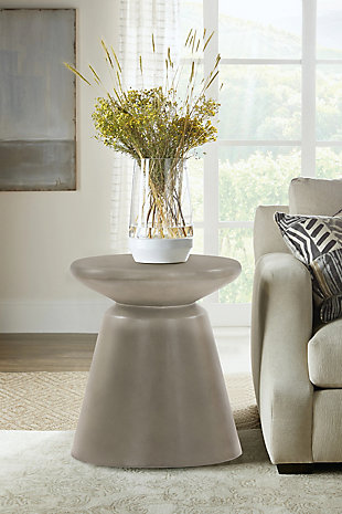 Armen Living Umbre Accent Stool End Table, , rollover