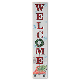 """Christmas 46.75"""" Welcome Truck Porch Sign, , rollover"""
