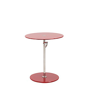 Euro Style Radinka Side Table, Red, rollover
