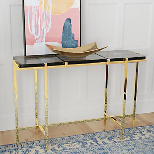 Gild Design House Rianne Recycled Glass Console Table, , rollover