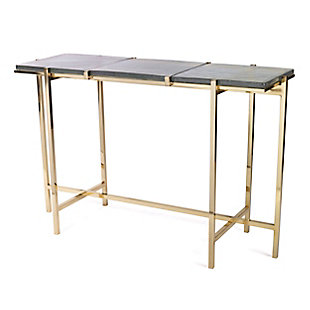 Gild Design House Rianne Recycled Glass Console Table, , large