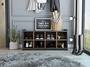 TuHome Entryway 8-Pair Shoe Storage Cabinet, , rollover