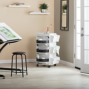 Studio Designs 4-Sided Swivel Mobile Organizer Cart, , rollover