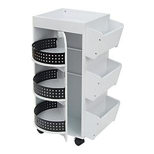 Studio Designs 4-Sided Swivel Mobile Organizer Cart, , large
