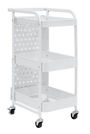 Studio Designs Streamline Mobile 3-Tier Metal Multiuse Organizer Cart, , large