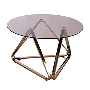 Southern Enterprises Greene Round Cocktail Table, , large