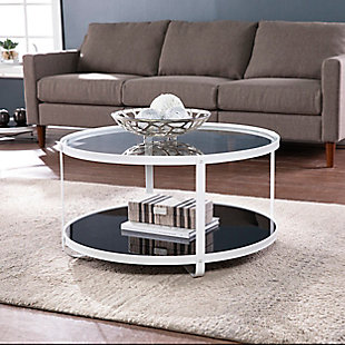 Southern Enterprises Flaera Glass-Top Cocktail Table, , rollover