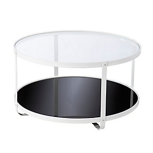 Southern Enterprises Flaera Glass-Top Cocktail Table, , large