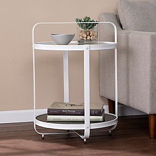 Southern Enterprises Flaera Glass-Top End Table, , rollover