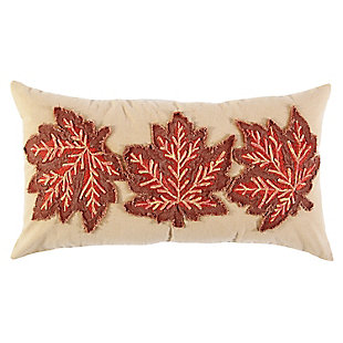 Rizzy Home  Maple Leaf Fall Lumbar Throw Pillow, , rollover