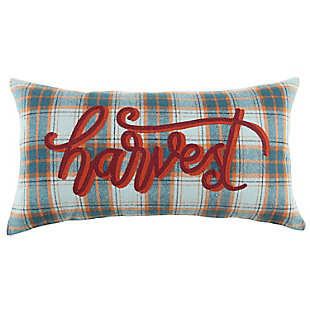 """Rizzy Home  Fall Plaid """"Harvest"""" Lumbar Pillow, , rollover"""