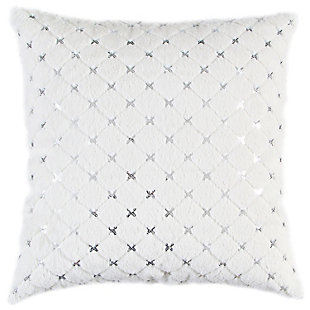 Rizzy Home  Soft Faux Fur Pillow, , rollover