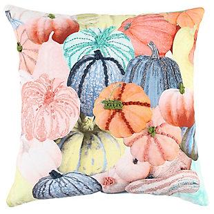 Rizzy Home  Fall Multi Colored Pumpkin Pillow, , rollover