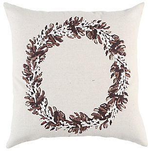 Rizzy Home  Simple Fall Wreath Pillow, , rollover