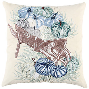 Rizzy Home  Blue Pumpkin Fall Pillow, , rollover