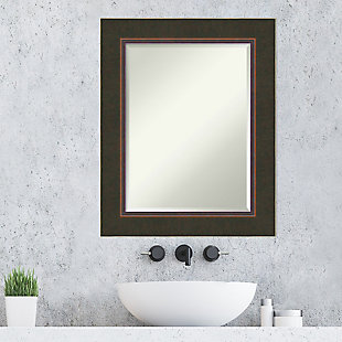 Amanti Art Wood Framed Wall Mounted Mirror, Bronze, rollover