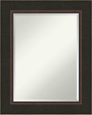 Amanti Art Wood Framed Wall Mounted Mirror, Bronze, large