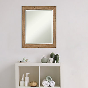 Amanti Art Narrow Wood Framed Wall Mounted Mirror, Owl Brown, rollover