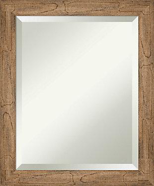Amanti Art Narrow Wood Framed Wall Mounted Mirror, Owl Brown, large