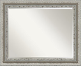Amanti Art Framed Wall Mounted Mirror, Silver, large