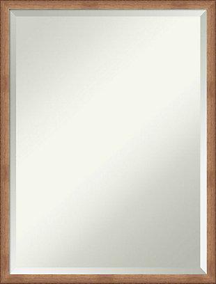 Amanti Art Narrow Wood Framed Wall Mounted Mirror, Rose Gold, large