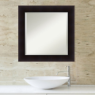 Amanti Art Wood Framed Wall Mounted Mirror, Espresso, rollover