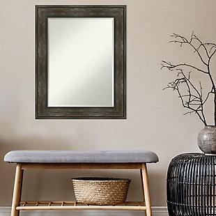 Amanti Art Framed Wall Mounted Mirror, Rail Rustic Char, rollover