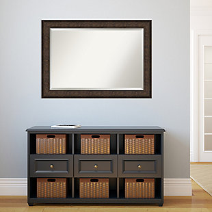 Amanti Art Framed Wall Mounted Mirror, Bronze, rollover