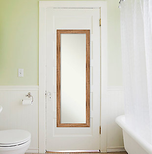 Amanti Art Narrow Wood Framed Full Length On the Door Mirror, , rollover