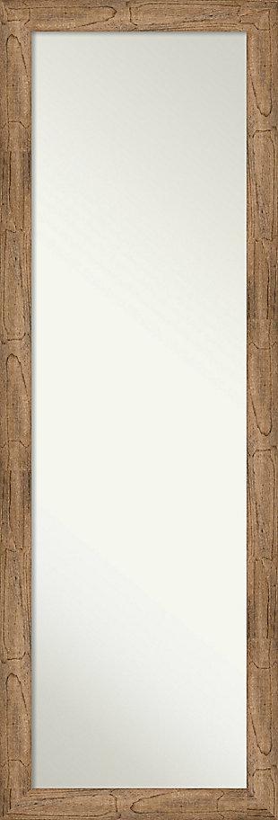 Amanti Art Narrow Wood Framed Full Length On the Door Mirror, , large