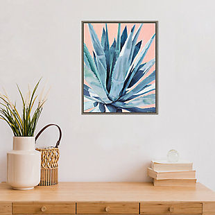 Amanti Art Agave with Coral Framed Canvas Art, , rollover