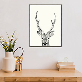 Amanti Art Animal Mug IV (Deer) Framed Canvas Art, , rollover