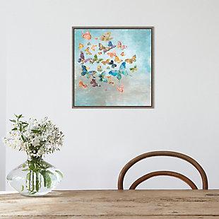 Amanti Art Beautiful Butterflies Framed Canvas Art, , rollover