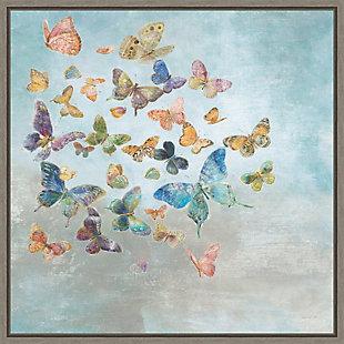 Amanti Art Beautiful Butterflies Framed Canvas Art, , large