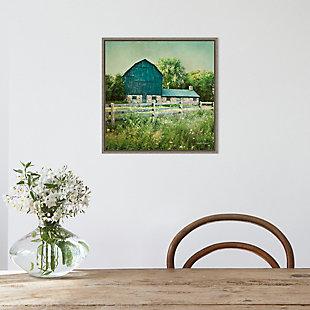 Amanti Art Blissful Country III (Barn) Framed Canvas Art, Gray, rollover