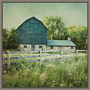Amanti Art Blissful Country III (Barn) Framed Canvas Art, Gray, large