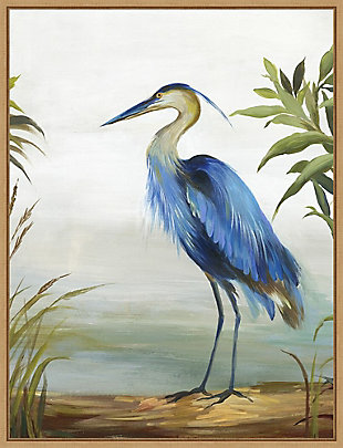 Amanti Art Blue Heron Framed Canvas Art, , large
