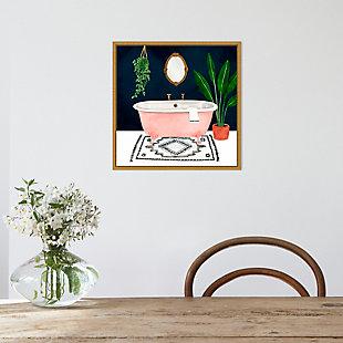 Amanti Art Boho Bath II Framed Canvas Art, , rollover