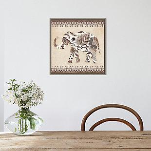 Amanti Art Boho Elephant II Neutral Framed Canvas Art, , rollover