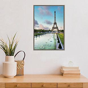 Amanti Art Eiffel Tower Paris View I Framed Canvas Art, , rollover