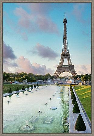 Amanti Art Eiffel Tower Paris View I Framed Canvas Art, , large